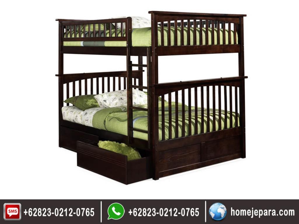 Tempat Tidur Tingkat Jati Stora