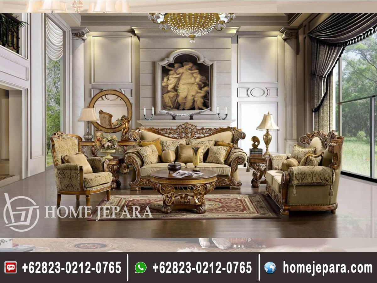 Set Sofa Tamu Ukiran Jepara Classic