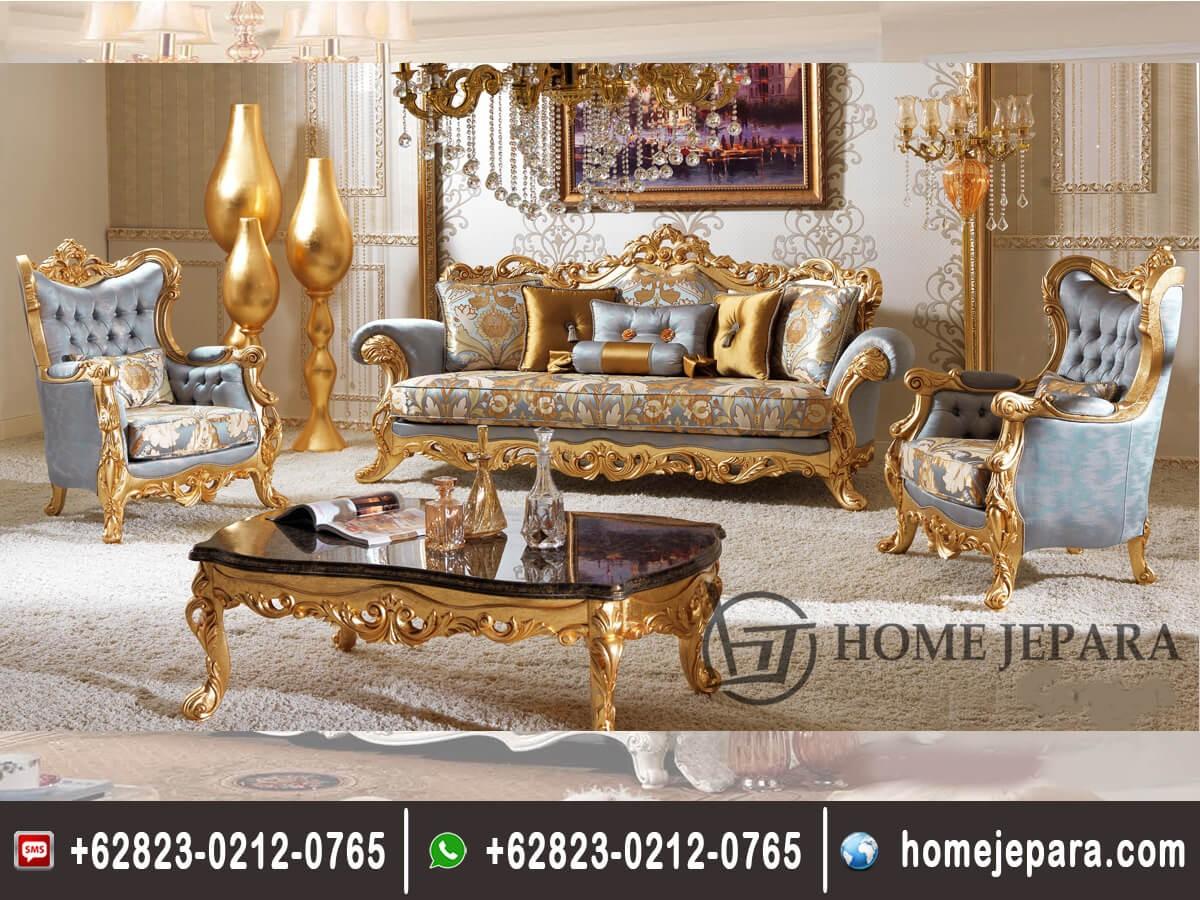 Set Sofa Tamu Ukiran Jepara Model Baru