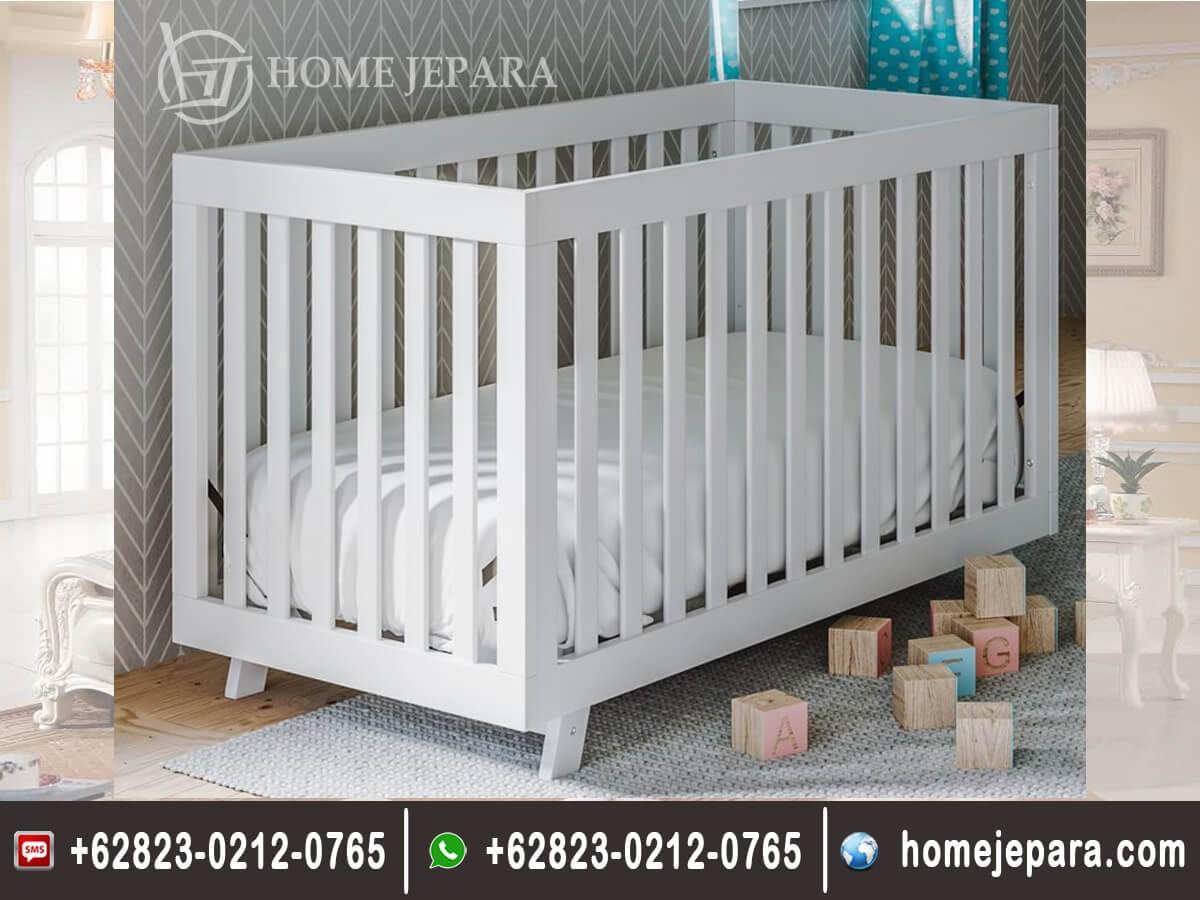 Tempat Tidur Baby Duco Putih Modern